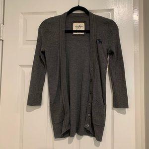 Abercrombie Long grey cardigan